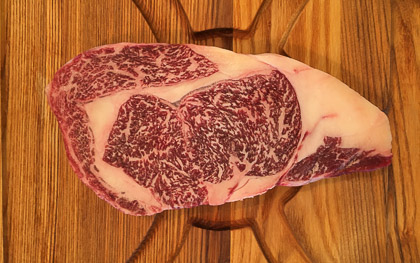 Kobe marbled beef steak